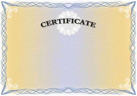 Certificate landscape format Stock Vector - 19178174