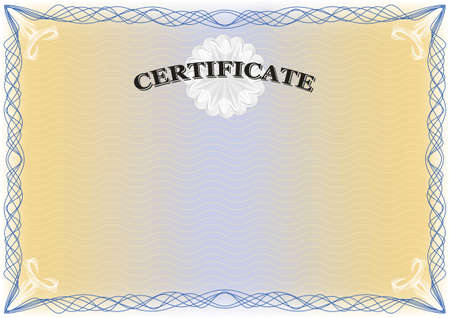 guilloche: Certificate landscape format