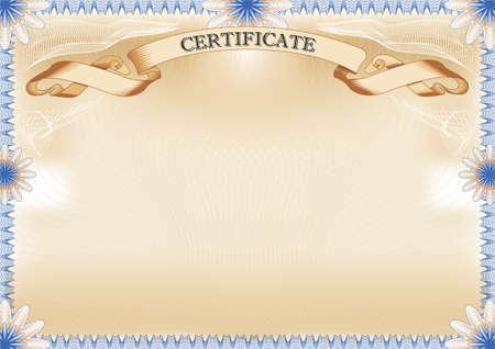 Certificate landscape format  Vector