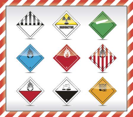 laser radiation: Danger symbols Illustration