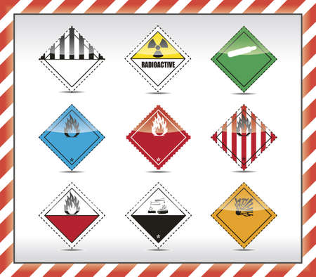 oxidant: Danger symbols Illustration