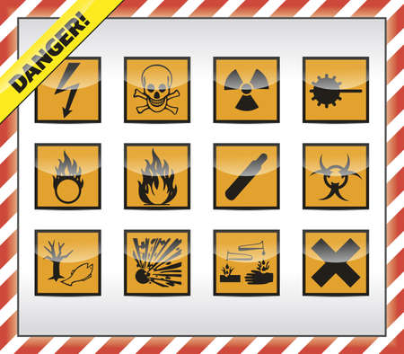 Danger symbols Stock Vector - 19178187