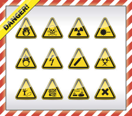 electricity danger of death: Danger symbols Illustration