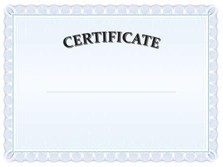 Blue detailed vector Certificate - landscape format
