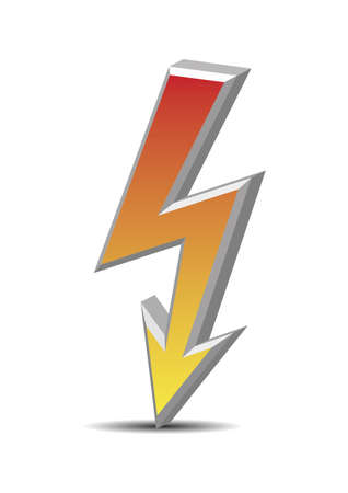 Colorized vector flash symbol on white background