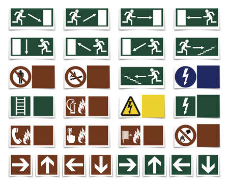 Danger, varning symbols Vector