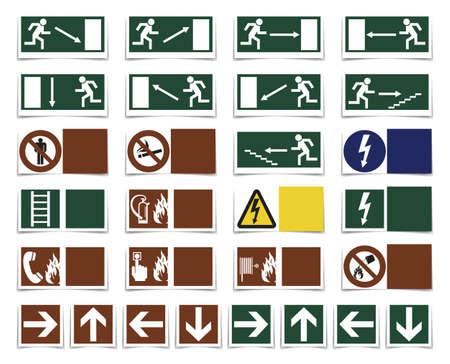 oxidizer: Danger, varning symbols Illustration