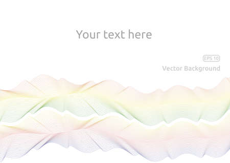 Colored wavy lines on white background for your text