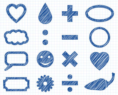 Icon mix - Doodle illustration collection, sign Stock Vector - 19933279