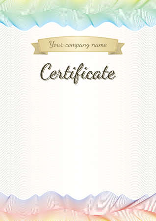 Beautiful certificate, graduate, diploma, vintage  The version of the document be scaled to any size without loss of quality