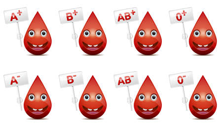 blood drops: Blood type