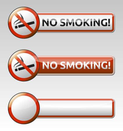 Bayrağı ile İzole vektör Hiç sigara yasağı sembol koleksiyonu Illustration