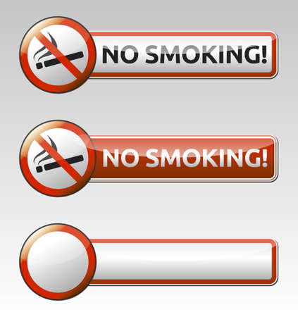 Isolated vector No smoking prohibition sign  symbol  collection with banner