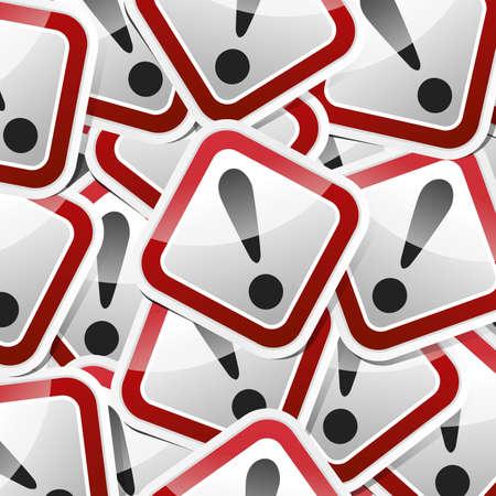 riesgo quimico: Peligro, señal de peligro, colección de iconos de estilo de etiqueta con la sombra. Vectores