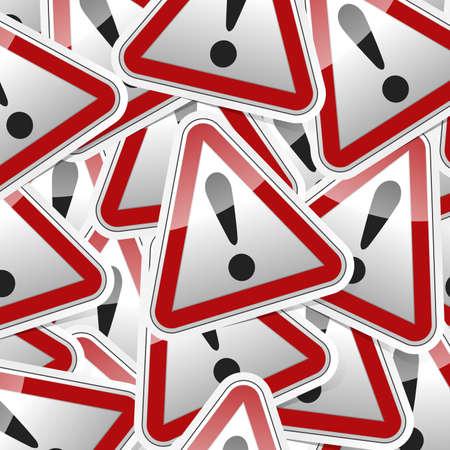 Tehlike, tehlike işareti, gölge ile simge etiketi tarzı koleksiyonu. Illustration