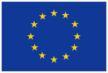 flags: European union flag Illustration