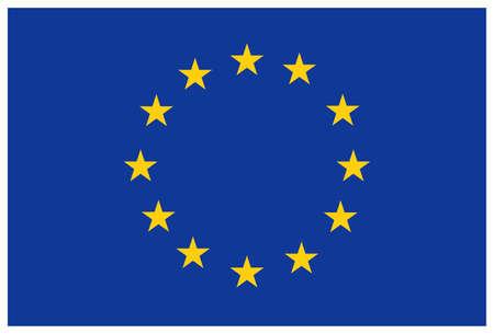 euro: European union flag Illustration