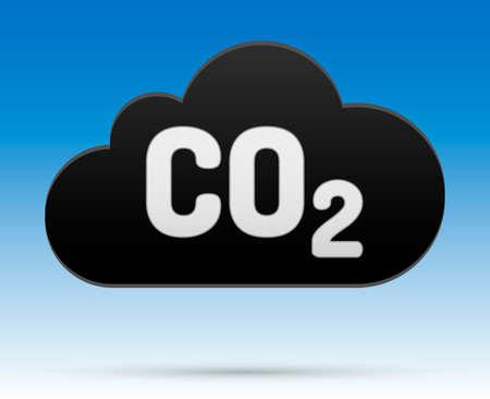 Gölge ve arka plan ile bulut CO2 işareti