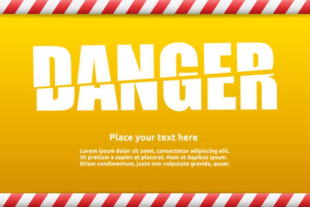 Danger warning sign template for your text with alert color Stock Vector - 29425183