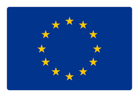 proportional: Europe flag correctly and proportional with round corner - flat design