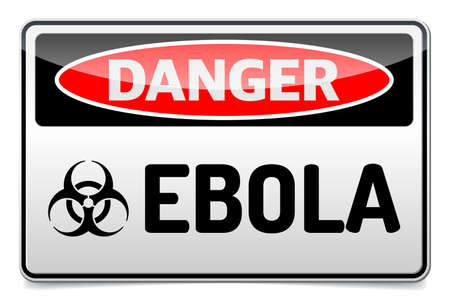 Ebola Biohazard virus danger sign with reflect and shadow on white background. Stock Vector - 30492913