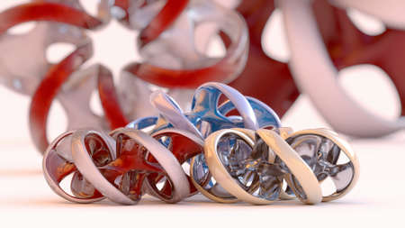 ideograph: Endless twisted torus jewel - 3D concept illustration Stock Photo