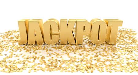 ジャック ポット - 高品質の白い背景の星を 3 D のレンダリング