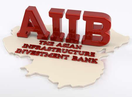 infraestructura: AIIb - El Banco de Inversi�n en Infraestructura de Asia - Render 3D