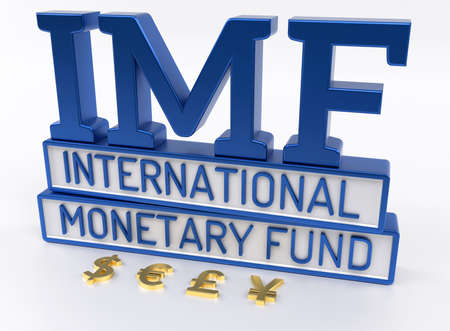 monetary: IMF - International Monetary Fund, World Bank - 3D Render Stock Photo