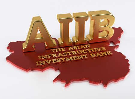 banco dinero: AIIb - El Banco de Inversi�n en Infraestructura de Asia - Render 3D