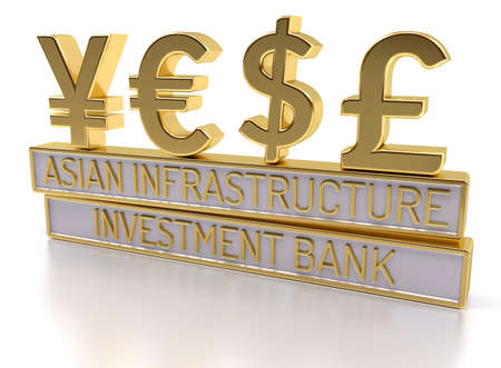 fund world: AIIB - The Asian Infrastructure Investment Bank - 3D Render