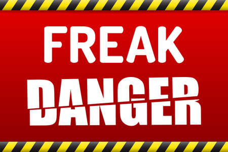 virus: FREAK - Factoring RSA Export Keys Security attack warning banner with shadow on white background