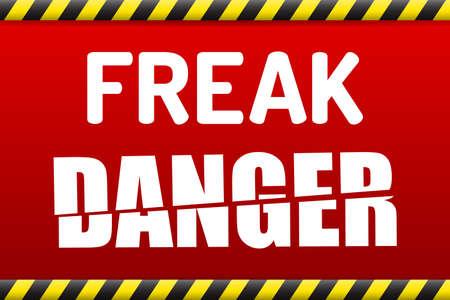 virus informatico: FREAK - Factoring RSA Exportación Keys Seguridad bandera de advertencia de ataque con sombra sobre fondo blanco