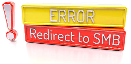 redirect: Redirect to SMB - Computer system error warning - 3D Render