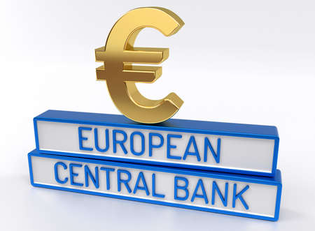 central european: ECB European Central Bank - High quality 3D Render - White background