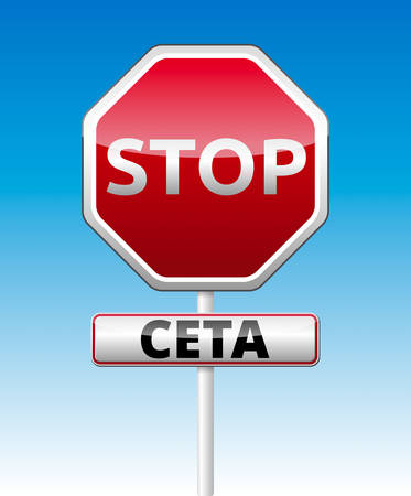 trade union: CETA - comprehensive economic and trade agreement between Canada and the European Union. Illustration