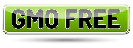 genetically modified organism: GMO FREE - Genetically modified organism - glossy banner with shadow