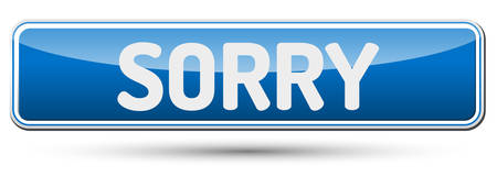 blunder: SORRY - Abstract beautiful button with text. Illustration