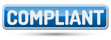 compliant: COMPLIANT - Abstract beautiful button with text.