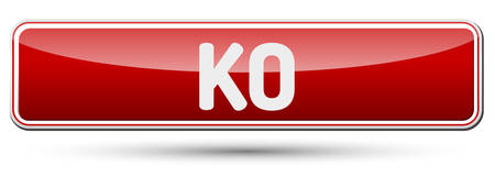 ko: KO - Abstract beautiful button with text.