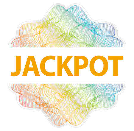 Jackpot - Guilloche rosette with text on white background Illustration