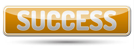 Success - glossy banner with shadow