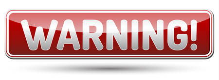WARNING - glossy banner with shadow Illustration