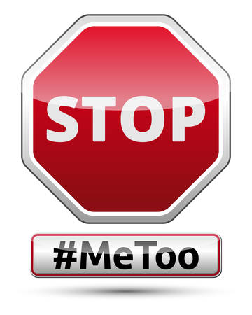 MeToo - STOP traffic sign, vector illustration. Illustration