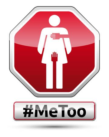 MeToo - traffic sign with woman pictogram, vector illustration.