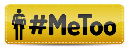#MeToo - Banner with woman pictogram