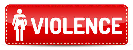 Violence - Banner with woman pictogram