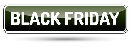 Black Friday inscription banner design template. Illustration