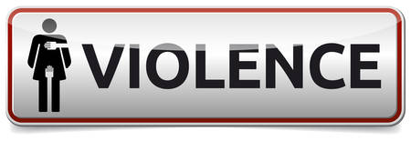 Violence - banner with woman sign Illustration