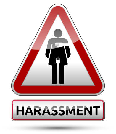 Harassment - Traffic sign with woman pictogram